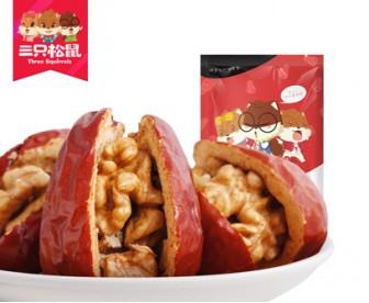 三只松鼠 甜夹脆 枣夹核桃仁 258克