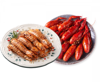 【特价组合】皮皮虾1KG搭配中国小龙虾1KG