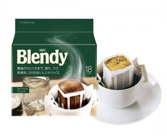 【新品到货】日本agf blendy滤挂滴漏式挂耳咖啡黑咖啡18包入原味浓郁