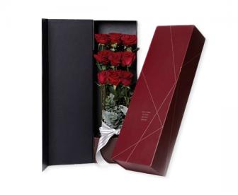 枪炮礼盒 含9支玫瑰