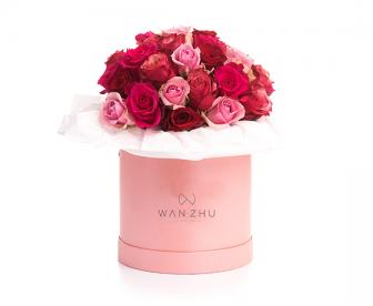 球面花筒 含9支玫瑰