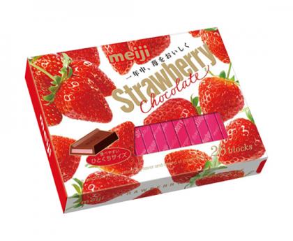 明治meiji至尊钢琴版草莓巧克力26枚120g