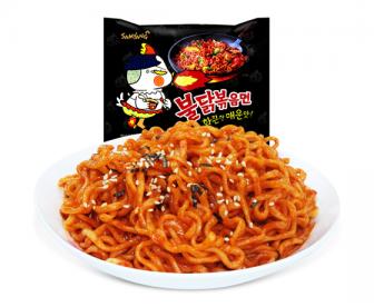 韩国进口三养拉面火鸡面辣鸡肉味拌面140G*5方便面