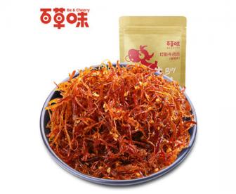 【新品】百草味灯影牛肉丝200g 麻辣味 牛肉干美食休闲零食特产小吃