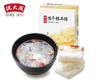 【新品】 上海老字号沈大成冻干银耳汤礼盒90g 冰糖雪梨红枣枸杞银耳汤羹