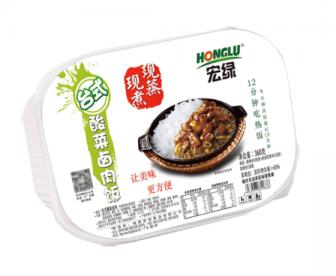 【网上下单立减5刀】宏绿自热米饭酸菜卤肉饭