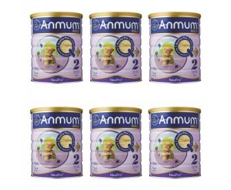 【新西兰直邮包邮】Anmum 安满 婴儿连动配方奶粉金装2段 900克x6罐/箱(6-12个月适用)【奶粉订单身份证必须上传】