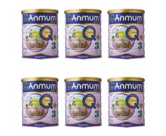 【新西兰直邮包邮】Anmum 安满 婴儿连动配方奶粉金装3段 900克x6罐/箱(1-3岁适用)【奶粉订单身份证必须上传】