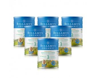【新西兰直邮包邮】Bellamy's 贝拉米 有机奶粉3段 900克x6罐/箱(12个月以上适用)【奶粉订单收件人身份证号码必填】