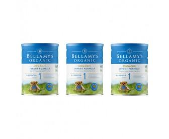 【新西兰直邮包邮】Bellamy's 贝拉米 有机奶粉1段 900克x3罐/箱(0-12个月)【奶粉订单收件人身份证号码必填】