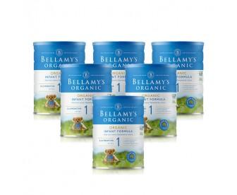 【新西兰直邮包邮】Bellamy's 贝拉米 有机奶粉1段 900克x6罐/箱(0-12个月适用)【奶粉订单收件人身份证号码必填】