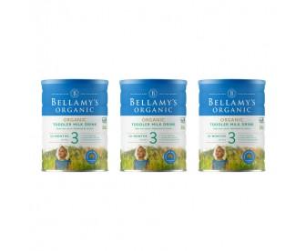 【新西兰直邮包邮】Bellamy's 贝拉米 有机奶粉3段 900克x3罐/箱(12个月+)【奶粉订单收件人身份证号码必填】