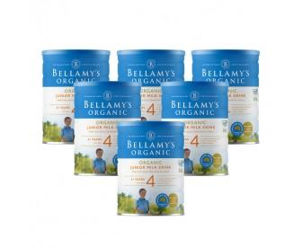 【新西兰直邮包邮】Bellamy's 贝拉米 有机奶粉4段 900克x6罐/箱(3岁以上适用)【奶粉订单收件人身份证必需上传】