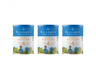 【新西兰直邮包邮】Bellamy's 贝拉米 有机奶粉4段 900克x3罐/箱(3周岁+)【奶粉订单收件人身份证必需上传】