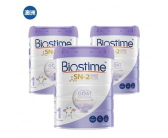 【澳洲直邮包邮】Biostime 合生元 婴幼儿羊奶粉1段 800克x3罐/箱(0-6个月适用)