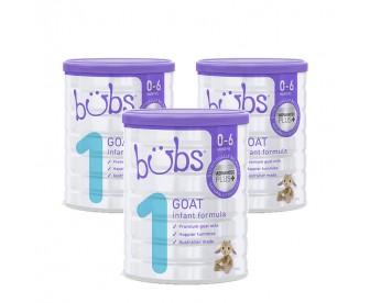 【新西兰直邮包邮】Bubs 婴儿山羊配方奶粉1段 800克x3罐/箱(0-6个月适用)【奶粉订单收件人身份证必填】