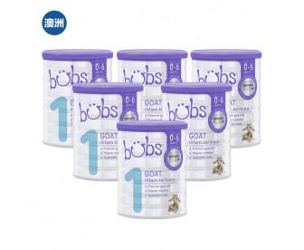 【澳洲直邮包邮】Bubs 婴儿山羊配方奶粉1段 800克x6罐/箱(0-6个月适用)