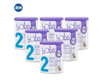 【澳洲直邮包邮】Bubs 婴儿山羊配方奶粉2段 800克x6罐/箱(6-12个月适用)