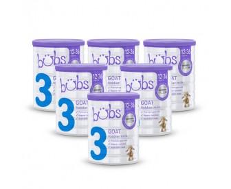【新西兰直邮包邮】Bubs 婴儿山羊配方奶粉3段 800克x6罐/箱(1-3岁适用)