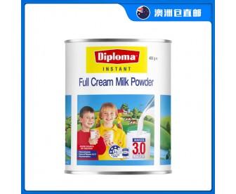 【澳洲直邮包邮】Diploma 全脂速溶 少年儿童老人高钙补钙奶粉 900克/罐