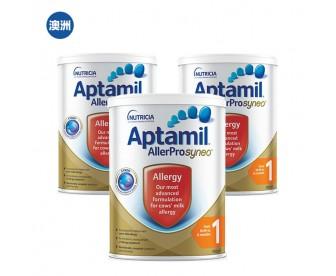 【澳洲直邮包邮】Aptamil 爱他美 深度水解奶粉1段 900克x3罐/箱(0-6个月)【奶粉订单收件人身份证必需上传】