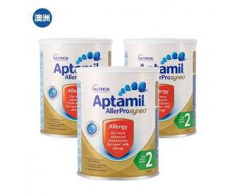 【澳洲直邮包邮】Aptamil 爱他美 深度水解奶粉2段 900克x3罐/箱(6-12个月)【奶粉订单收件人身份证必需上传】