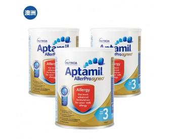 【澳洲直邮包邮】Aptamil 爱他美 深度水解奶粉3段 900克x3罐/箱(1岁以上)【奶粉订单收件人身份证必需上传】