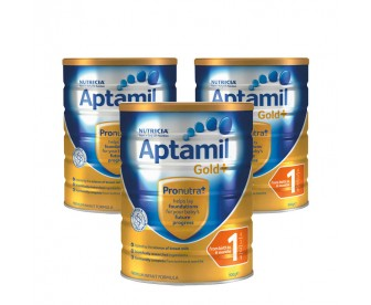 【新西兰直邮包邮】Aptamil 爱他美 金装1段 900克x3罐/箱(适合0-6个月新生儿) 【奶粉订单身份证必须上传】