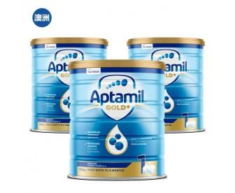 【澳洲直邮包邮】Aptamil 爱他美 金装1段 900克x3罐/箱(0-6个月以上适用)