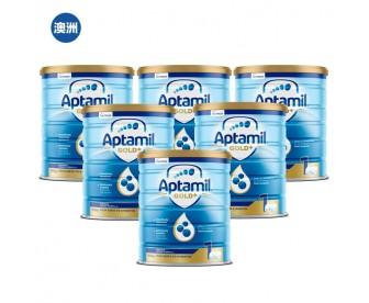【澳洲直邮包邮】Aptamil 爱他美 金装1段 900克x6罐/箱(0-6个月以上适用)