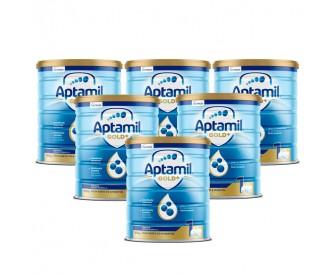 【新西兰直邮包邮】Aptamil 爱他美 金装1段 900克x6罐/箱(0-6个月以上适用) 【奶粉订单收件人身份证号必填】