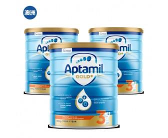 【澳洲直邮包邮】Apatmil 爱他美 金装3段 900克x3罐/箱(12个月以上适用)