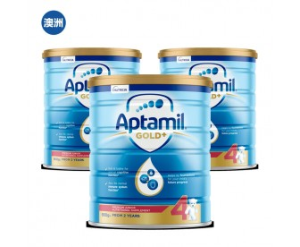 【澳洲直邮包邮】Aptamil 爱他美 金装4段 900克x3罐/箱(2岁以上适用)