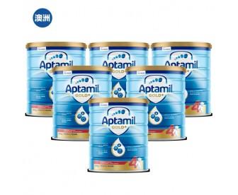 【澳洲直邮包邮】Aptamil 爱他美 金装4段 900克x6罐/箱(2岁以上适用)