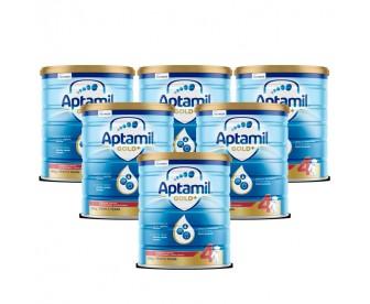 【新西兰直邮包邮】Aptamil 爱他美 金装4段 900克x6罐/箱(2岁以上适用)【奶粉订单收件人身份证号必填】