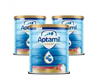 【新西兰直邮包邮】Aptamil 爱他美 金装4段 900克x3罐/箱(2岁以上适用)【奶粉订单身份证必须上传】