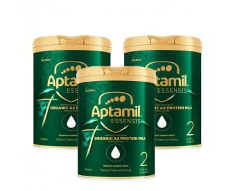【新西兰直邮包邮】Aptamil 爱他美 奇迹绿罐 有机A2蛋白婴幼儿奶粉二段 900克x3罐【奶粉订单收件人身份证必须上传】