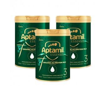 【新西兰直邮包邮】Aptamil 爱他美 奇迹绿罐 有机A2蛋白婴幼儿奶粉三段 900克x3罐【奶粉订单收件人身份证必须上传】
