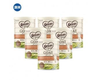 【澳洲直邮包邮】Karicare 可瑞康 婴幼儿羊奶粉1段 900克x6罐/箱(适合0-6个月新生儿)
