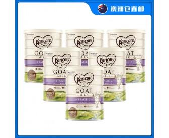 【澳洲直邮包邮】Karicare 可瑞康 婴幼儿羊奶粉2段 900克x6罐/箱(6-12个月)