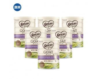 【澳洲直邮包邮】Karicare 可瑞康 婴幼儿羊奶粉2段 900克x6罐/箱(适合6-12个月婴儿)