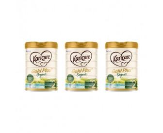 【新西兰直邮包邮】Karicare 可瑞康 有机牛奶粉2段 900克x3罐/箱(6-12个月)【奶粉订单收件人身份证必需上传】