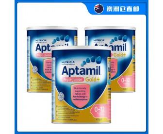 【澳洲直邮包邮】Aptamil 爱他美 深度水解抗过敏无乳糖奶粉 450克x3罐/箱(0-12个月)【奶粉订单收件人身份证必需上传】