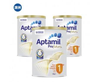 【澳洲直邮包邮】Aptamil 爱他美 白金版1段 900克x3罐/箱(0-6个月适用)
