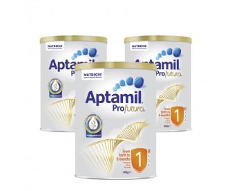 【新西兰直邮包邮】Aptamil 爱他美 白金版1段 900克x3罐/箱(0-6个月适用)【奶粉订单身份证必须上传】