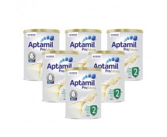 【新西兰直邮包邮】Aptamil 爱他美 白金版2段 900克x6罐/箱(6-12个月适用)【奶粉订单收件人身份证号必填】
