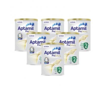 【新西兰直邮包邮】Aptamil 爱他美 白金版2段 900克x6罐/箱(6-12个月适用)【奶粉订单收件人身份证必须上传】