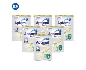 【澳洲直邮包邮】Aptamil 爱他美 白金版2段 900克x6罐/箱(6-12个月适用)