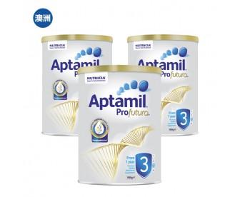 【澳洲直邮包邮】Aptamil 爱他美 白金版3段 900克x3罐/箱(1岁以上适用)