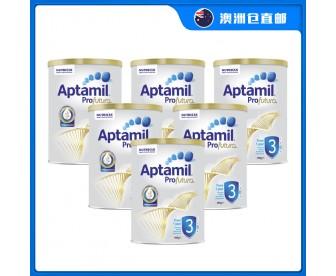 【澳洲直邮包邮】Aptamil 爱他美 白金版3段 900克x6罐/箱(1岁以上适用)